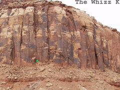 Rock Climbing Photo: Location of the Whizz Kid