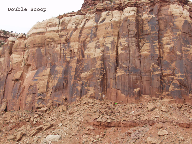 Rock Climbing Photo: Location of Double Scoop