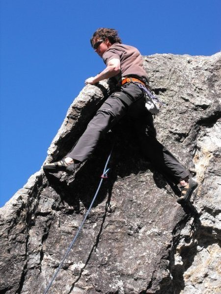 Rock Climbing Photo: Shark Fin, 5.11a sport climb