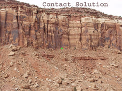 Rock Climbing Photo: Location of Contact Solution