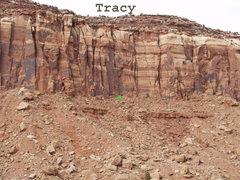 Rock Climbing Photo: Location of Tracy