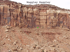 Rock Climbing Photo: Location of Waggley Baggley