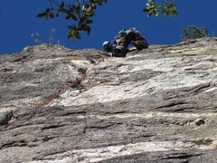 Rock Climbing Photo: Around 2nd crux...