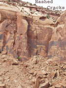Rock Climbing Photo: Location of Hashed Cracks