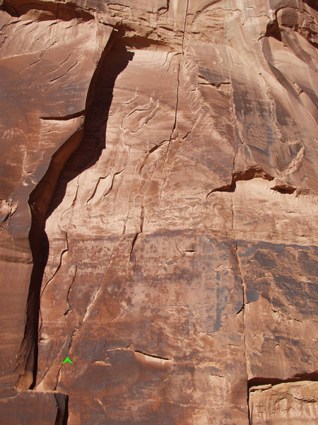 Rock Climbing Photo: Hashed Cracks