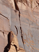 Rock Climbing Photo: middle section of Zach Meets Scarpelli Fist