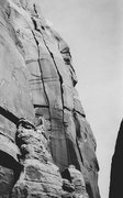 Rock Climbing Photo: Coffin Maker is the left crack with the Morgue Dra...