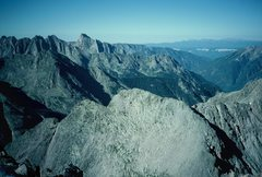 Rock Climbing Photo: Animas Mountain's ribs and the east face of Pigeon...