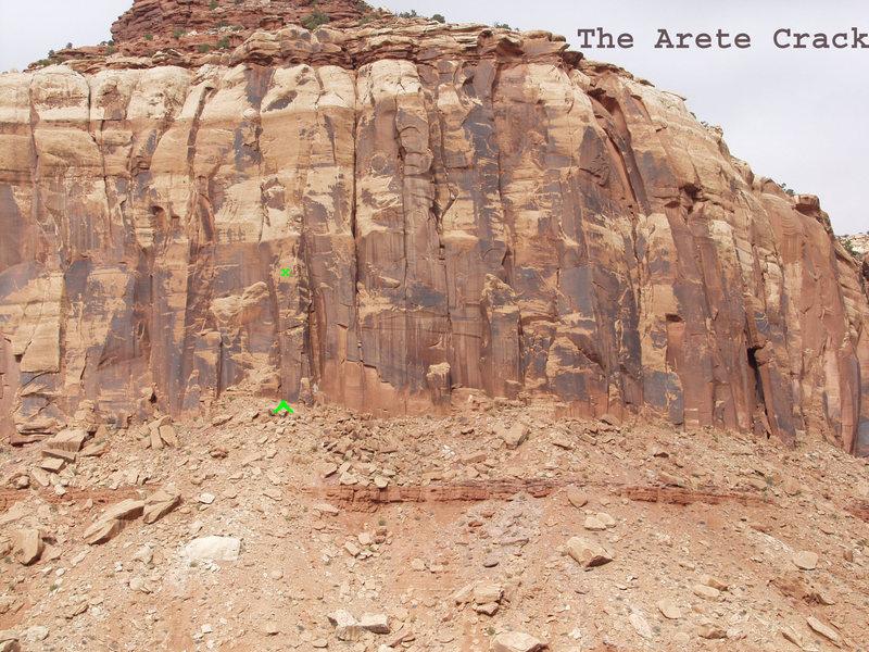 Location The Arete Crack