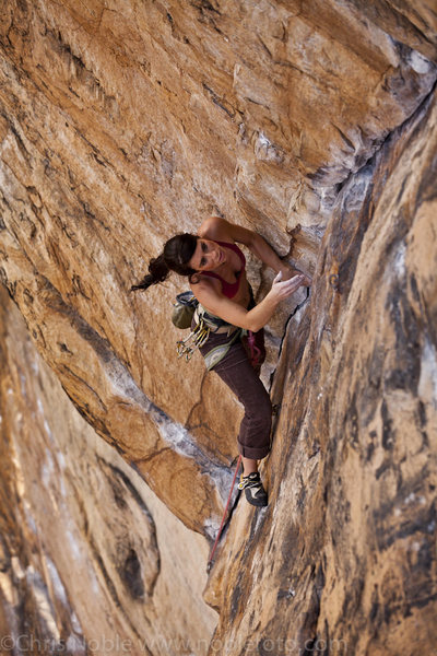 Rock Climbing Photo: Workin up Legacy, 11a at Endless Wall in the New R...