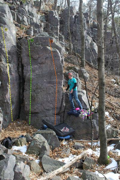 "Rock Climbing Photo: 2 is ""Eubank's Lady Bits,"" 3 is ""I ..."