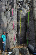 "Rock Climbing Photo: Path 1 is ""Confidence Booster"", 2 is &qu..."