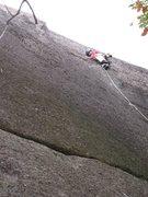 Rock Climbing Photo: Jon showing how its done.  Photo by Scott