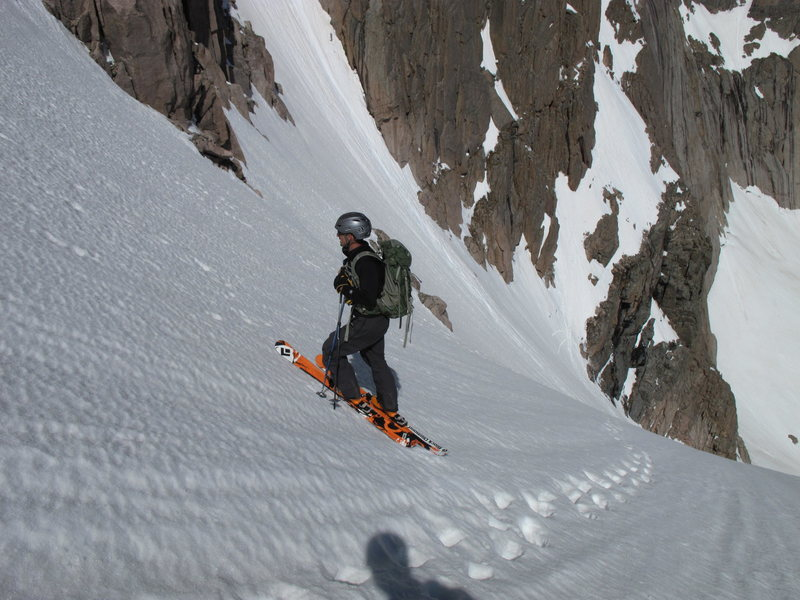 Rock Climbing Photo: One of my favorite ski descents ever, June 9th, 20...