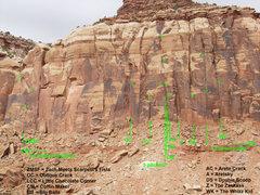 Rock Climbing Photo: Zackass Overview