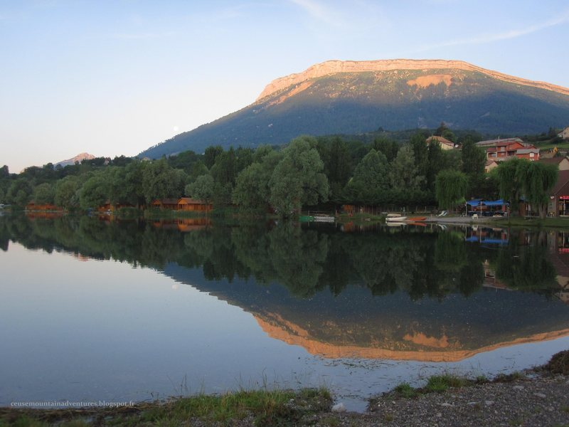 Rock Climbing Photo: Ceuse at sunrise from lac de pelleautier