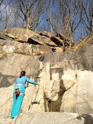 Rock Climbing Photo: Old School done as a 30m climb, with Allison belay...