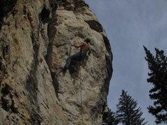 Rock Climbing Photo: cruxing