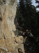 Rock Climbing Photo: Coin shooting, lee belaying, while Im shooting the...