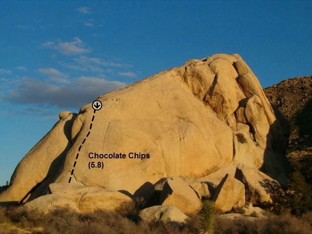Rock Climbing Photo: Chocolate Chips (aka Omaha Beach) (5.8), Joshua Tr...