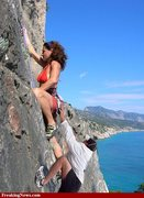 Rock Climbing Photo: awe theres that bomber hold