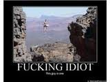 Rock Climbing Photo: fucking idiot