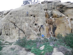 Rock Climbing Photo: This picture shows climbers on the routes Vicious ...