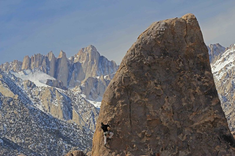 Rock Climbing Photo: Ryan looking @ Mt Whitney.