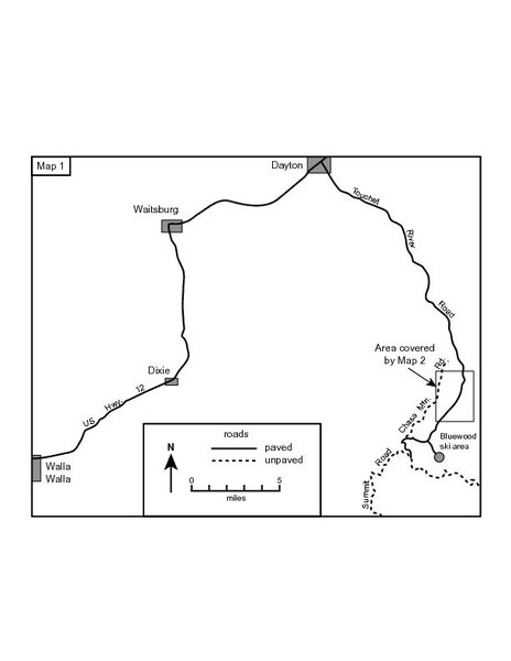 Map to get to the Dikes