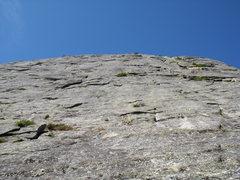 Rock Climbing Photo: Halfway up, looking up.