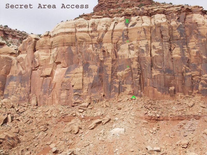 Rock Climbing Photo: Location for Secret Area Access