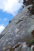 Rock Climbing Photo: BP approaching Will near top.
