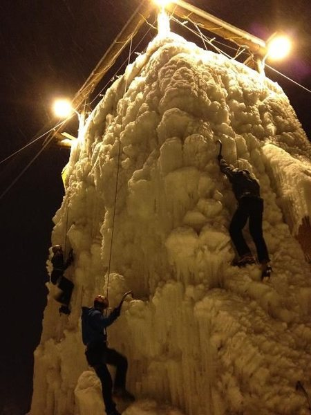 University of Alaska Fairbanks Outdoor Ice Wall