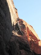 Rock Climbing Photo: Me checking out a crack for a potential easy trad ...