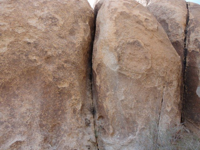 This is the crack.  On the N. wall of the box canyon to the left of Box Canyon Crack.