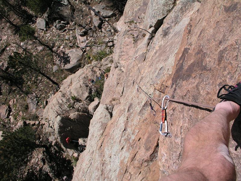 Rock Climbing Photo: Natalia seconding Red Mite