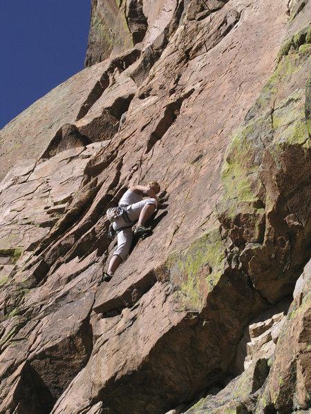 Rock Climbing Photo: Natalia part way up Down Converter