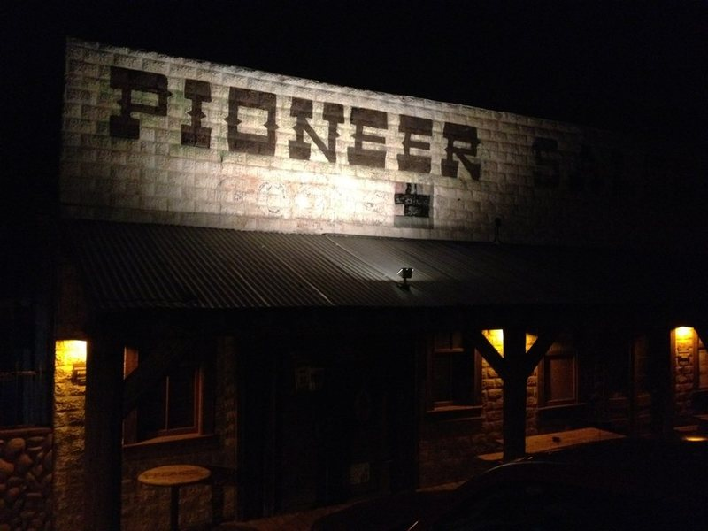 The Pioneer Saloon, built in 1913, is an awesome place to visit in Southern Nevada [if you don't mind witnessing the occasional, good ol' fashioned knock down drag out bar fight; so I've heard]. It's a casual drive, only 25 miles SW of Vegas. <br> <br> The PS houses friendly staff, a really cool bar, a wood burning stove, interesting desert folk, a pool table, and they serve food now; limited menu with items you can cook yourself, if you so choose, on their outdoor grill.(They used to only serve pickled eggs, and dry snacks before).<br>  <br> I love the Pioneer Saloon in Goodsprings, Nevada! : )<br> <br> Pic taken 2/22/12