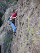Rock Climbing Photo: One of the wonder women of Echo Cliffs, Tara, at t...