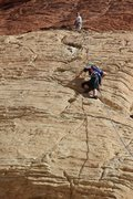 Rock Climbing Photo: My 12yo daughter finishing first pitch.  Second pi...