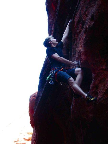 Rock Climbing Photo: kneedtorest