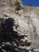 Rock Climbing Photo: Eric, very new to climbing and doing great, gets a...