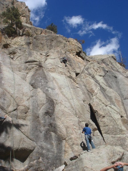 Rock Climbing Photo: Kristen on the Minstrel.