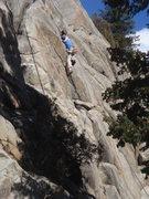 Rock Climbing Photo: Joe leading Bosch Blanket Bingo.