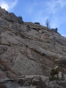 Rock Climbing Photo: Eva just through the crux.