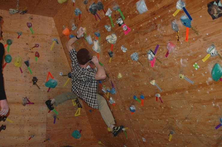 Rock Climbing Photo: Woody is finally done!