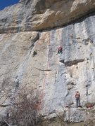 Rock Climbing Photo: 'canabis ou nutella' is the line on the right. 'le...