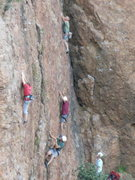 Rock Climbing Photo: The pattern is definitely full!! Leaders climbing ...