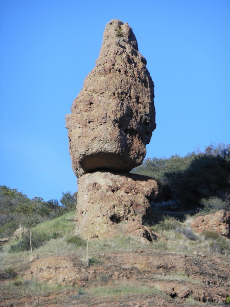 """Balanced Rock, up close and personal. """"Get The Balance Right"""" is on the right skyline, while """"Heirloom"""" is on the backside."""