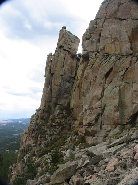Looking at the north side of Friend Creek Pinnacle